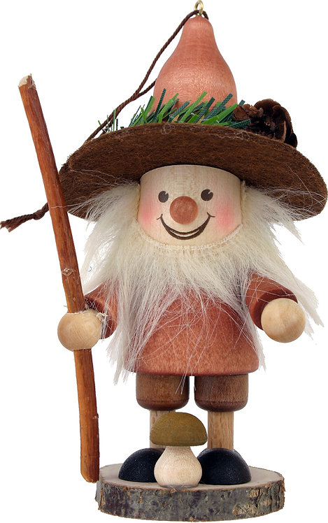 "Ornament - Mushroom Man - Natural 4.5""H"