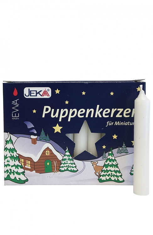 "Candles for Pyramids - ""Puppenkerzen"" White (box of 20) 2.5""H"