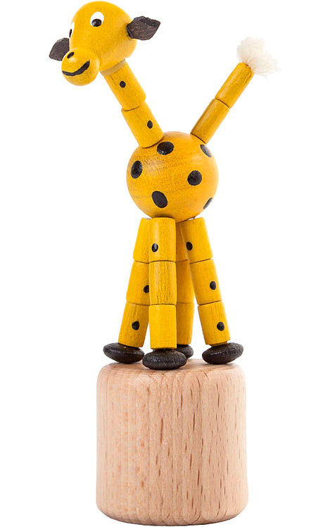 "Toy - Giraffe push toy - Painted 4""H"