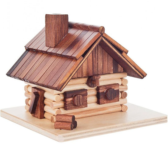 "Smoker Log Lodge - Natural 4.5""H"