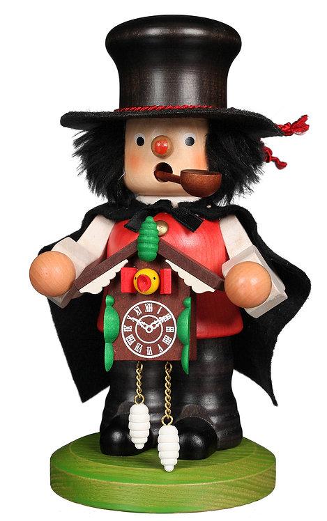 "Smoker - Black Forest Man (clock maker) - Painted 7.3""H"