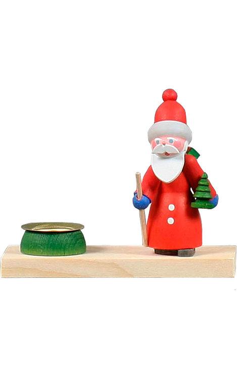 """Decoration -  Santa Claus holding a tiny tree 3.5""""H"""