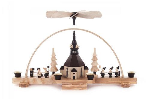"Candle Arch Pyramid Seiffen Church, Children, Choir (holds candles) 8.7""H"