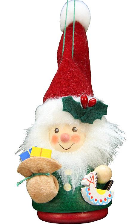 """Ornament - Santa - Green 5""""H"""