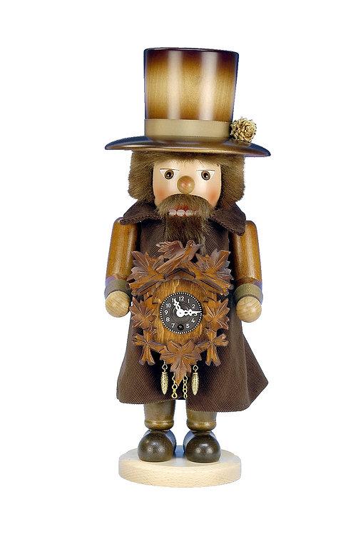 "Nutcracker Clockmaker (working key-wound clock) Natural, 17""H"