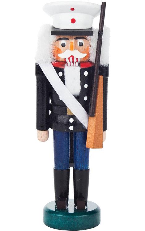 """Decoration - Mini-Nutcracker Soldier - Black/Blue 5.3""""H"""