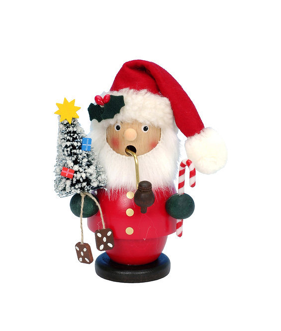 """Smoker - Santa (with tree) - Red 5""""H"""