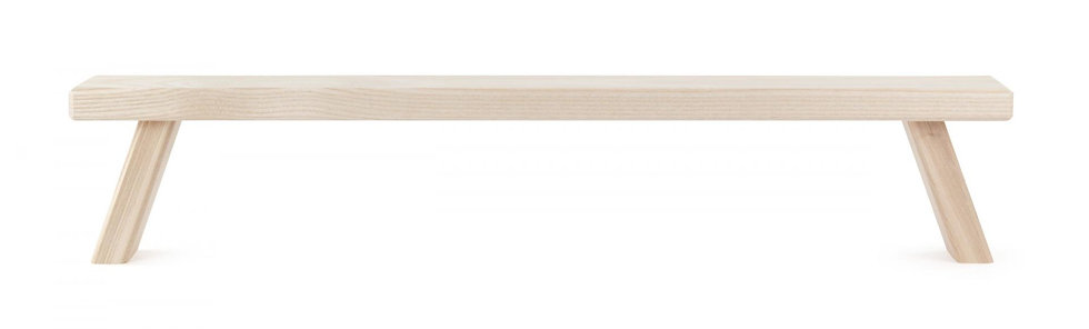 "Bench for Candle Arc - Natural 5""H"