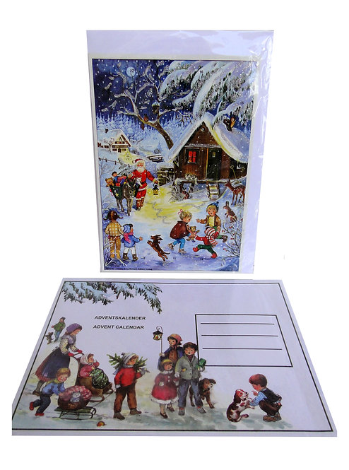 "Individual Advent Calendars (assorted designs) 11.5"" x 8.25"""