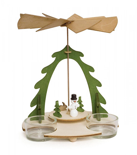 """Craft - Pyramid Snowman to Build - Painted 7.1""""H"""