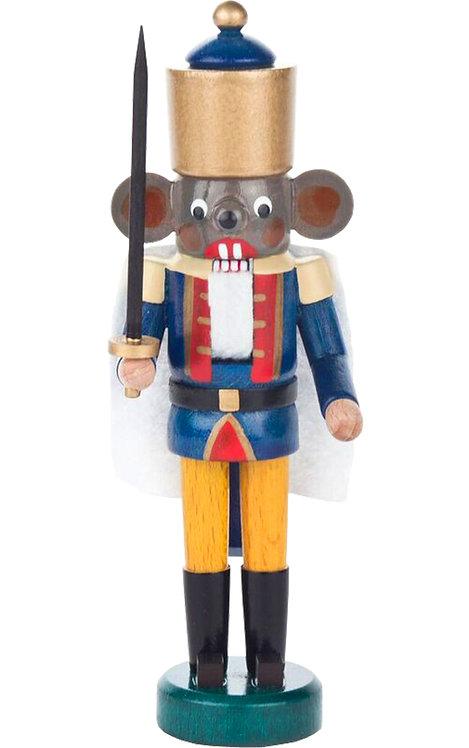 "Decoration - Mini-Nutcracker Mouse King - Blue 5.5""H"