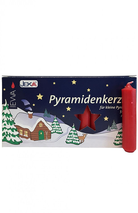 "Candles for Pyramids - ""Pyramidkerzen"" Red (box of 50) 3""H"