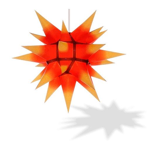 "Moravian Star - Original Herrnhut Paper Star (i4) (Yellow/ Red) - 16"""