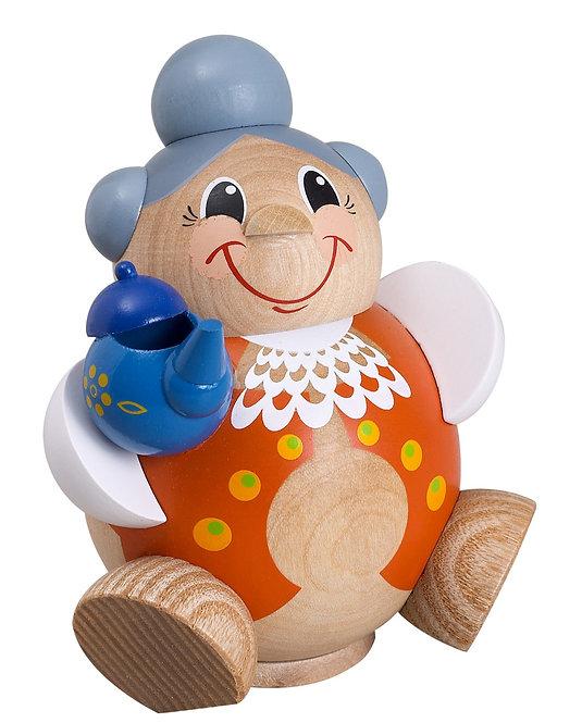 "Smoker - Grandma with Teapot - Painted 4.3""H"