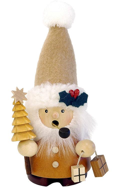 """Smoker - Santa (with tree) - Natural 5.5""""H"""