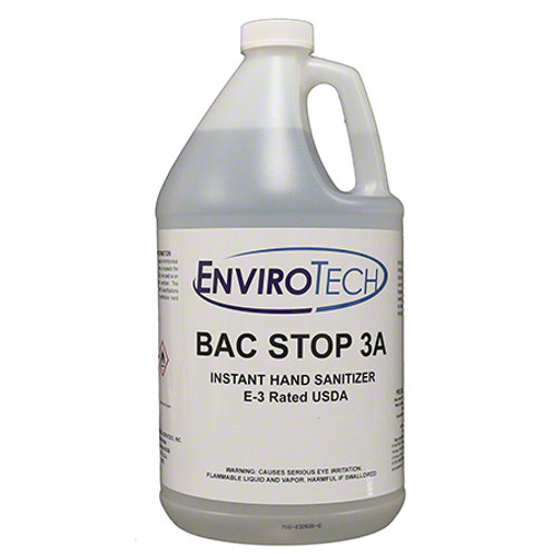 Bac Stop 3A USDA Rated E3 Hand Sanitizer (Case of 4 Gallons)