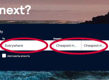 איך למצוא טיסות זולות עם סקייסקנר, שלב אחרי שלב