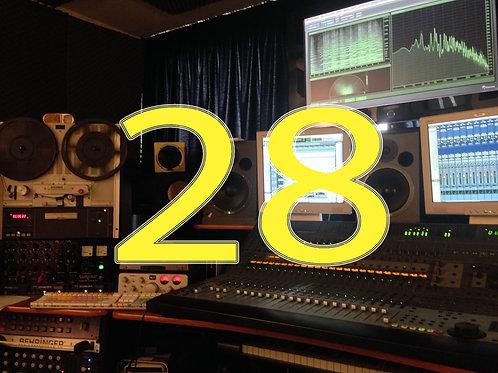Editing / mixing (13-28 tracks)