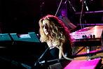 Paola Crisigiovanni durante un concerto