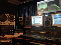 Mixing desk and tape recorder Fonorecord