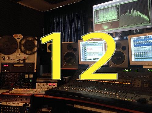 Editing / mixing (3-12 tracks)