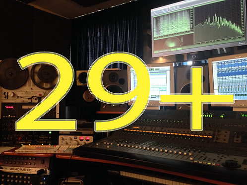Editing / mixing (29 or more tracks)