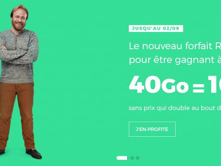 #Promo SFR RED : le forfait 40 Go à 10€/mois (à vie) dégainé en réponse à Sosh