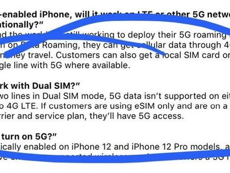 iPhone 12 : pas de 5G avec le mode double SIM ?