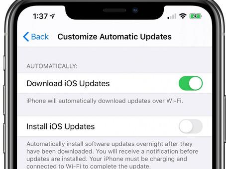 iOS 13.6 : un réglage pour désactiver le téléchargement auto des mises à jour iOS