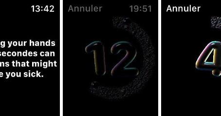 """watchOS 7 : comment contrôler son temps de """"Lavage de mains"""""""