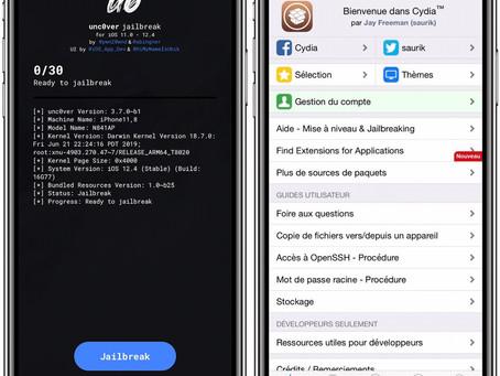 Unc0ver iOS 12.4 : le jailbreak pour les iPhone XS/XR s'améliore avec plein de correctifs
