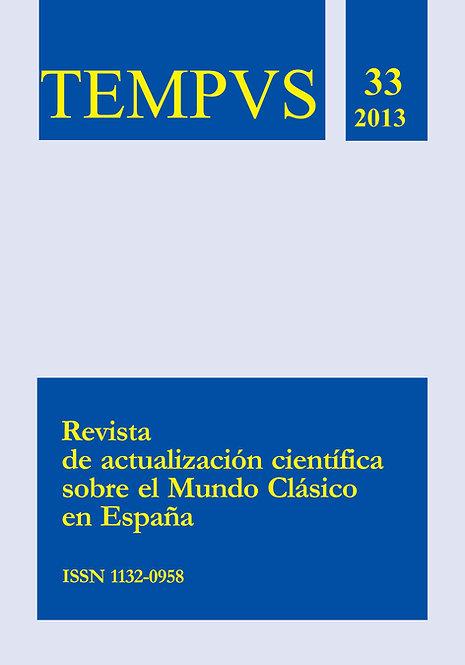 Revista Tempvs Nº 33 - Año 2013