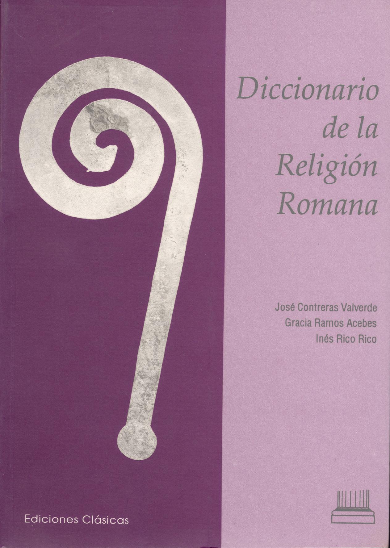 DICCIONARIO DE LA RELIGION ROMANA