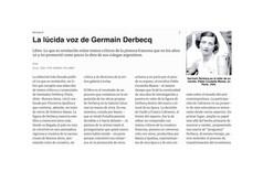 La lúcida voz de Germaine Derbecq