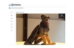 La rebelión de los animales en una exposición de esculturas