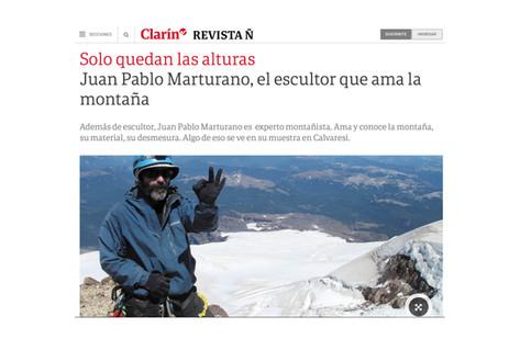 Juan Pablo Marturano, el escultor que ama la montaña