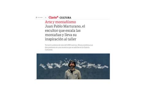 Juan Pablo Marturano, el escultor que escala las montañas y lleva su inspiración al taller