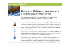 Blanco en Calvaresi: una muestra de sillas para ver tres veces