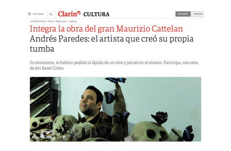 Andrés Paredes: el artista que creó su propia tumba