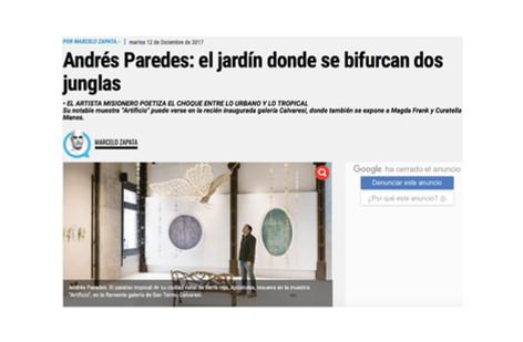 Andrés Paredes: el jardín donde se bifurcan dos junglas