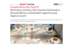Hermoso y, encima, útil: muestra homenaje a Ricardo Blanco, el diseñador argentino que llegó al Louvre