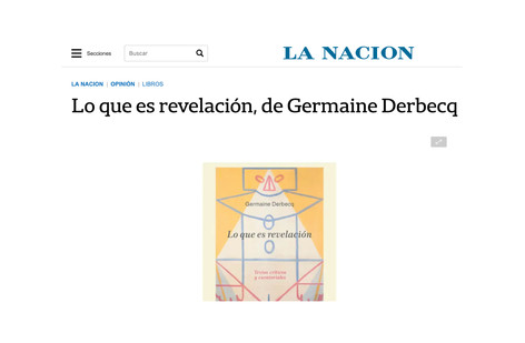 Lo que es revelación, de Germaine Derbecq
