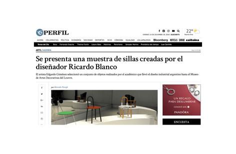 Se presenta una muestra de sillas creadas por el diseñador Ricardo Blanco