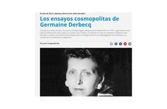 Los ensayos cosmopolitas de Germaine Derbecq