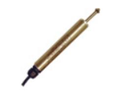 Strain guage displacement transducer