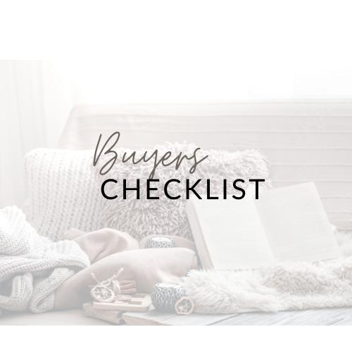 Buyer Checklist