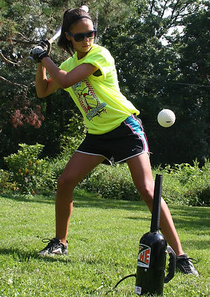 Softball air tee in action!