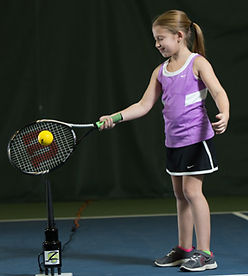 Hit Zone Jr tennis training aid in action