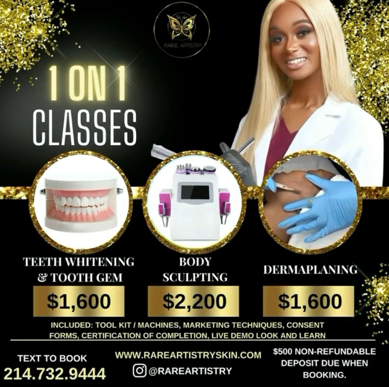 SIGN UP FOR CLASS DERMAPLANING