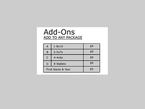 Add-on: A. (1) 8x10